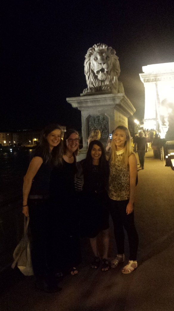 On Budapest's Chain Bridge with my future-colleagues!